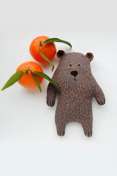Bear kids gift woodland toy animal stuffed toy for por WoodlandTale