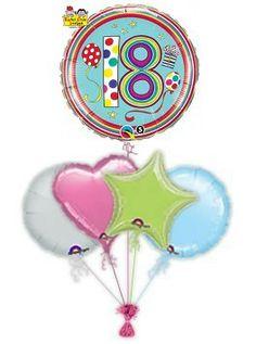 18th Birthday Mylar Balloons Barn Parties Balloon Gift 30th Helium