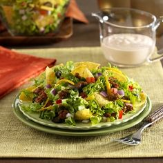 Try Ortega Easy Taco Salad recipe at family night! For more like this, see what's cooking in our kitchen! Easy Taco Salad Recipe, Taco Salad Recipes, Taco Salads, Mexican Food Recipes, Taco Seasoning, What To Cook, Family Meals, Tacos, Food And Drink