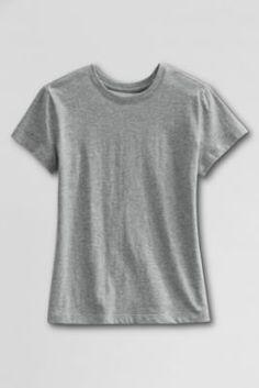School Uniform Short Sleeve Feminine Fit Basic T-shirt from Lands' End School Uniform, Pe Uniform, Album, Shirts For Girls, Autumn Fashion, Feminine, Tees, My Style, Fitness