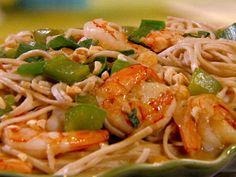 Peanutty Somen Noodles with Shrimp