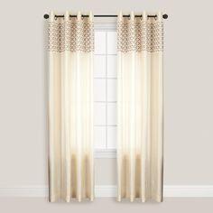 Champagne Calypso Curtain | World Market- bright & clean?