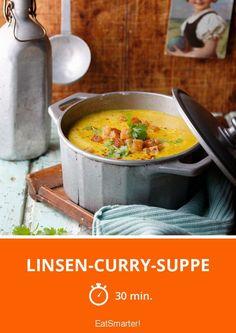Linsen-Curry-Suppe – Die Kombi von Linsen und Curry-Aromen heizt richtig ein an kalten Wintertagen!