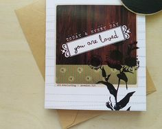 You are Loved Notecard (Blank Inside) Set of 3 by greensJOY on Etsy, $6.00