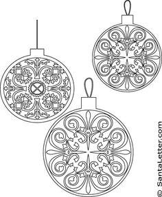 TEENS - STAINED GLASS Christmas Ornaments Coloring Pages, great for saran wrap stained glass