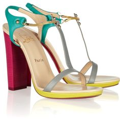 Of course my favorite color-block heels would be the Christian Louboutin Sylvietas!