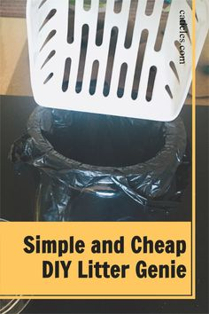 Want to keep the litter box area clean? Check out this easy DIY litter genie! The actual litter genie is made out of plastic. Did you know that plastic traps bacteria? Even with regular washing! That means you'll never get it fully clean! Plus you have to replace plastic regularly. That's terrible for your wallet and the environment. Try this DIY litter genie hack instead. It's much more sanitary and easier to clean. That means a clean litter box area! Check out the guide today! Litter Box Smell, Best Cat Litter, Diy Cat Toys, Cat Hacks, Cat Garden, Cat Decor, Animal Projects, Cat Crafts, Cat Supplies