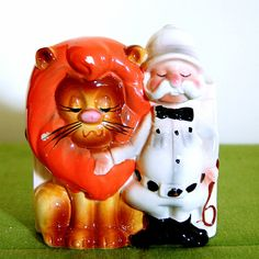 Vintage Kitsch Lion Tamer Circus Ceramic Planter by cutxpaste, $12.00
