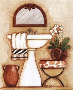 Safari III ~ Fine-Art Print - Washstand and Sink Art Prints and Posters - Bathroom Pictures Pictures For Bathroom Walls, Bathroom Prints, Diy Bathroom Decor, Bathroom Art, Zebra Bathroom, Mosaic Bathroom, Bathroom Drawing, Molduras Vintage, Decoupage