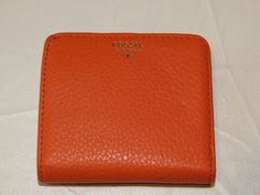 Fossil SL4435971 Sydney Bifold Monarch coral Leather mini Wallet NWT^^ #Fossil #Bifoldminiwallet