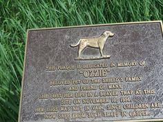 A sad marker on the Platte River Parkway............