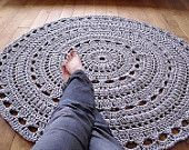MADE To ORDER  5ft(150cm) handmade chunky crochet mega doily rug ,