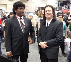Pulp Fiction Cosplay Is Terrifyingly Close To The Real Thing - http://videogamedemons.com/events/pulp-fiction-cosplay-is-terrifyingly-close-to-the-real-thing/