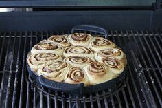 Yes, you can bake cinnamon rolls on the grill!!!  This recipe is inspired by our interactive dining series for brunch in the Weber Grill Academy. We wanted to have...