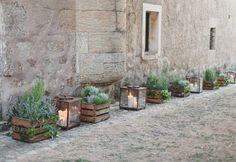 Boda de Rocío y Rudy en los jardines del Palacio de Montarco. Detalle deco Foto: Días de Vino y Rosas