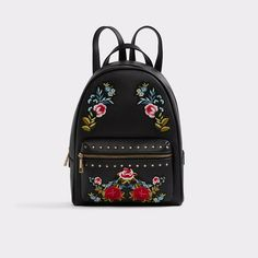 Dare Bold meets feminine in our Dare patch-covered backpack. Features embroidered colorful flowers and top zipper. Aldo Backpack, Backpack Purse, Fashion Backpack, Cool Backpacks, Latest Outfits, My Collection, Fendi, Purses And Bags, Handbags