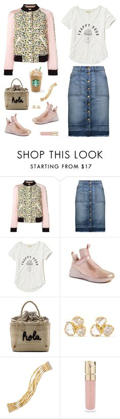"""""""Frappy Hour"""" by musicfriend1 ❤ liked on Polyvore featuring Coach, Current/Elliott, Hollister Co., Puma, Kayu, Pippa Small, Marco Bicego and Smith & Cult"""