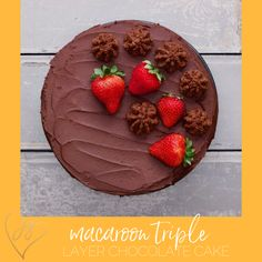 Let's get chocolatey with this decadent chocolate layer cake with a macaroon crust. Passover Desserts, Passover Recipes, Jewish Recipes, Triple Layer Chocolate Cake, Decadent Chocolate, 3 Layer Cakes, 9 Inch Cake Pan, Cinnamon Cookies, Jewish Food