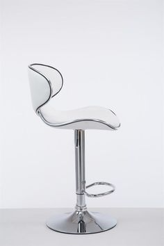 White Modern Bar Stool Metal Faux Leather Seat Cafe Pub Kitchen Chair Gas Lift for sale online Modern Bar Stools, Kitchen Chairs, Komfort, Las Vegas, Leather, Ebay, Design, Products, Contemporary Bar Stools