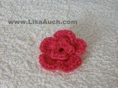 Free Crochet Flower Pattern An Easy 3d crochet flower