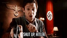 """""""Shut up, Hitler"""" #doctor who #rory #funny"""
