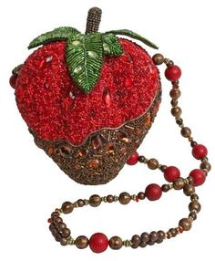 Mary Frances Unusual Strawberry Purse -- all hand-made