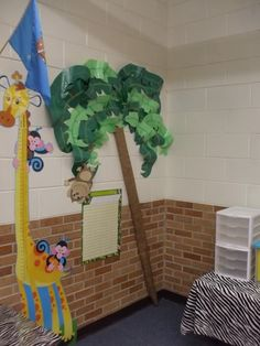 jungle Classroom Charts for Teachers | bulletin board this is our growth chart skills chart area