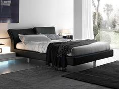 Upholstered double bed REFLEX by Presotto Industrie Mobili | design Pierangelo Sciuto