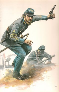 American Civil War Art - Confederate officer with drawn pistol Age Of Empires, Military Art, Military History, Military Uniforms, American Civil War, American History, Civil War Art, Confederate States Of America, Civil War Photos