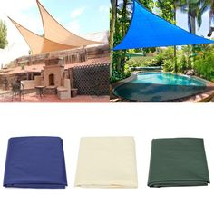 Sale 23% (16.99$) - IPRee™ 3.6x3.6x3.6M/5x5x5M Sun Shade Sail Anti-UV Outdoor Patio Lawn Triangle Tent Canopy