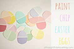 eggs from paint chips {a thoughtful place}