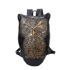 (28.04$)  Watch here - http://ais40.worlditems.win/all/product.php?id=32688696446 - Women Backpack 2016 Newest Stylish Cool Black PU Leather Owl Backpack Female Hot Sale Women Bag In Stock Fast Shipping