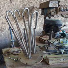 Building some strange instruments in Casablanca Morocco tomorrow recording!