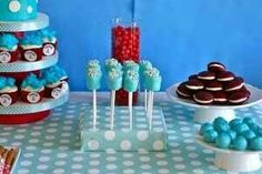 Thing 1 thing 2 baby shower food ideas