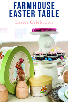 Host a beautiful Easter dinner with tips and inspiration from Everyday Party Magazine #Ad #OrientalTrading #OTCHipHopSquad #OTC #EasterTablescape #FarmhouseStyleEasterTable