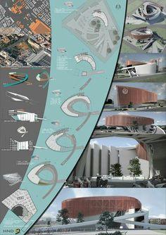 Lámina arquitectónica, lámina de presentación, arquitectura, concepto, modelo