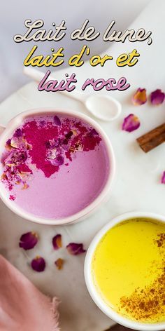 Recettes épicées de moon milk pour voir la vie en rose, en or, ou dans la couleur que vous voulez. Découvrez les propriétés réconfortantes du lait rose, du lait d'or et du lait de lune. Juice Smoothie, Smoothie Drinks, Clean Recipes, Sweet Recipes, Haitian Food Recipes, Drinking Tea, Soul Food, Cravings, Deserts