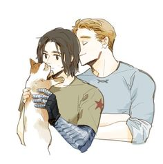 Captain America (MCU) - Steve Rogers x Bucky Barnes - Stucky Avengers Art, Marvel Art, Marvel Comics, Captain America And Bucky, Captain America Winter, Winter Soldier Bucky, Bucky And Steve, Fanart, Wattpad