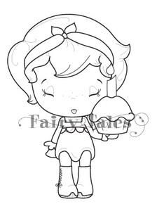 Cupcake Belle C.C. Designs Fairytales Rubber Stamp by Not2Shabbyshop for $5.09