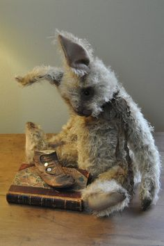 Beautiful Lori Ann Corelis Bunny with her sweet old fashion shoe....
