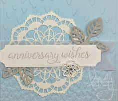 Welcome back crafters! I'm preparing for some up coming wedding vendor  events I'll be doing after the holidays. There is a perfect product suite  in the 2017 Occasions catalog called Falling in Love. This is by far the  prettiest/elegant looking wedding/engagement/anniversary/love suite. I  think it has something to do with the color combinations, the typeface  fonts and images in the stamp sets and then all the amazing accessories. I  cased a card from the picture in the catalog but I had…