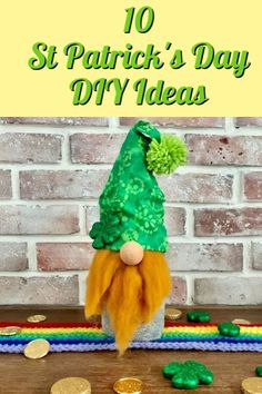 Make this leprechaun gnome with an old wine bottle and a pair of socks. Add some embellinshments to turn him into an Irish leprechaun. bottle crafts summer Leprechaun Gnome - Crafty Little Gnome irish st patricks day craft St Patricks Day Crafts For Kids, St Patrick's Day Crafts, Fun Crafts, St. Patrick's Day Diy, Craft Activities, Elderly Activities, Dementia Activities, Physical Activities, Wine Bottle Crafts