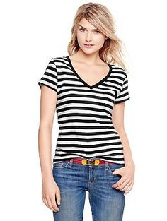 Essential striped slub T great price!!