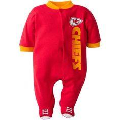 5168f86b15 NFL Kansas City Chiefs Baby Boys Team Sleep  N Play Outfit - Walmart.com