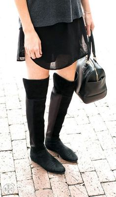 Tory Burch over-the-knee boots for an elegant edge this Fall.
