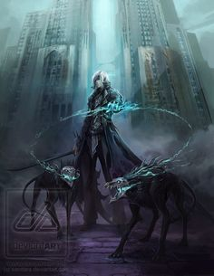 Deviant art by sandara. Inspiration for 5th book when Cael breaks out of Hell via hellhounds. Awesome artist.