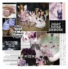 """""""Fight Those Demons"""" by empresssx ❤ liked on Polyvore featuring ferm LIVING, Jonathan Simkhai, Nearly Natural, Lancôme, Givenchy and Dolce&Gabbana"""