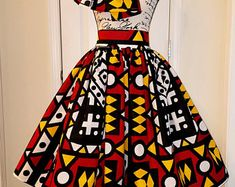 Items similar to African Print Skirts, Ankara, Custom Made Midi Skirt, on Etsy African Print Skirt, African Print Fashion, Skirt Set, Midi Skirt, African Blouses, Cotton Maxi Skirts, Ankara Skirt, Infinity Dress, Couple Outfits