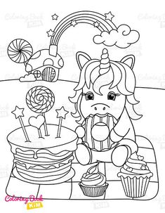 A sweet coloring book full of merry and funny unicorns. Fun adventures of unicorns that meet various animals, fly balloons, dance at the disco, meet fairies and jump on a rainbow. Unicorn Coloring Pages, Animal Coloring Pages, Coloring Pages For Kids, Coloring Books, Unicorn Drawing, Happy Animals, Amazing Adventures, Balloons, Merry