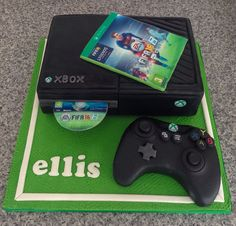 #xboxone #cake #xboxonecake #fifa16cake #fifa16 #alledible  Xbox one cake with cake controller completely edible and perfect for a Xbox fan